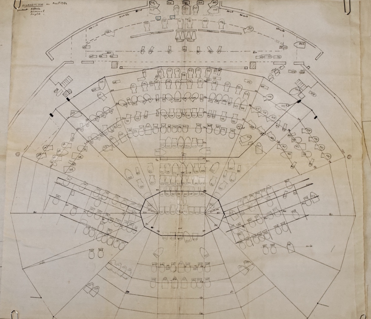 le plan lumière du théâtre du Rond-Point en 1984