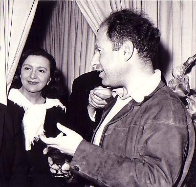 Marie Bell et Peter Brrok au théâtre du Gymnase en 1960