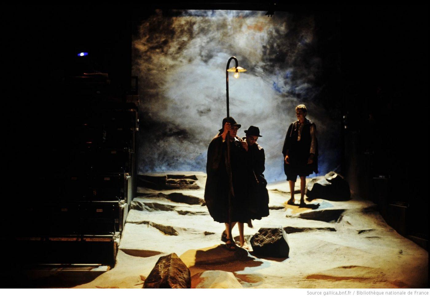 Œdipe-tyran, Jean-Pierre Vincent, décor Jean-Paul Chambas, lumière Alain Poisson, 1989 ©Daniel Cande